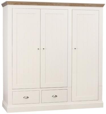 TCH Coelo 3 Door 2 Drawer Wardrobe - Oak and Painted