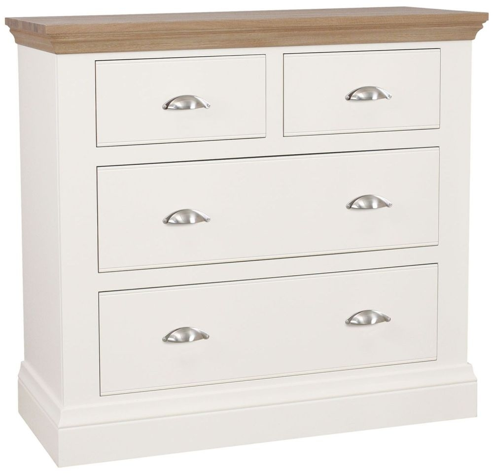 TCH Coelo 2+2 Drawer Chest - Oak and Painted