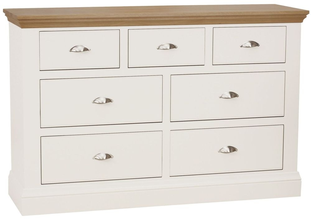 TCH Coelo 4+3 Drawer Chest - Oak and Painted