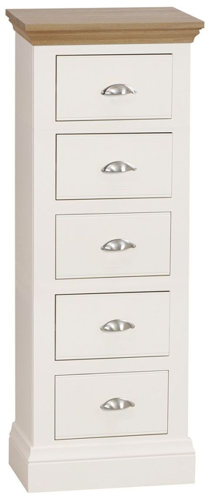 TCH Coelo 5 Drawer Chest - Oak and Painted