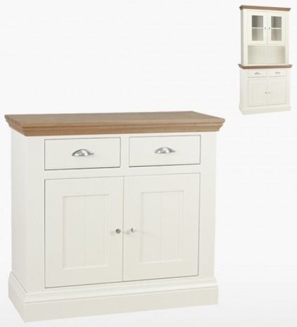 TCH Coelo 2 Door 2 Drawer Small Sideboard - Oak and Painted