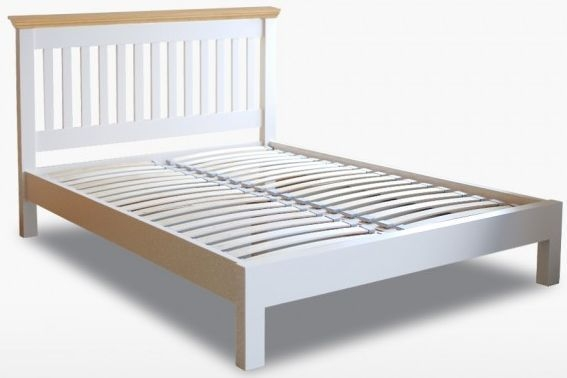 TCH Coelo Low Foot End Slatted Bed - Oak and Painted