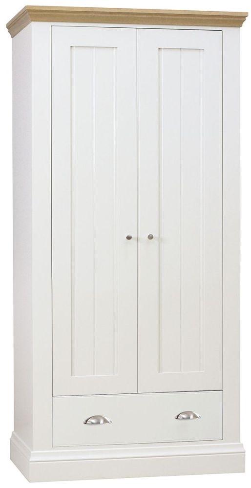 TCH Coelo 2 Door 1 Drawer Wardrobe - Oak and Painted