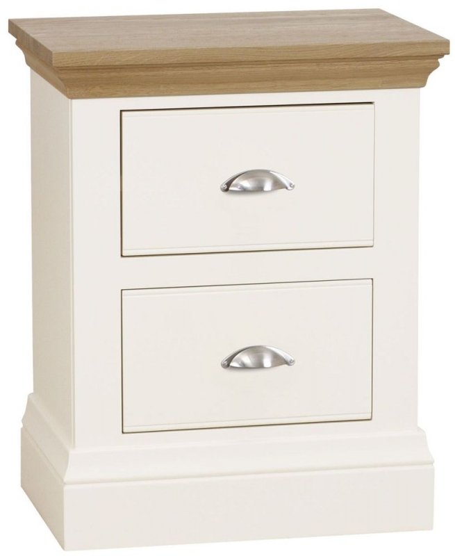 TCH Coelo 2 Drawer Bedside Cabinet - Oak and Painted
