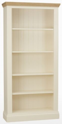 TCH Coelo 4 Shelves Bookcase - Oak and Painted