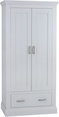 TCH Coelo Painted 2 Door 1 Drawer Wardrobe