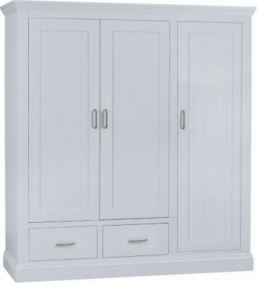 TCH Coelo Painted 3 Door 2 Drawer Wardrobe