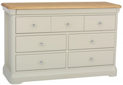 TCH Cromwell 4+3 Drawer Chest - Oak and Painted
