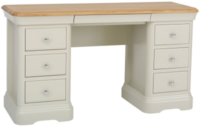 TCH Cromwell Double Pedestal Dressing Table - Oak and Painted