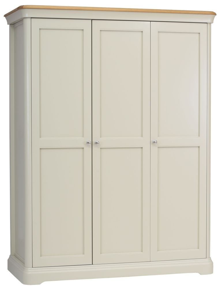 TCH Cromwell 3 Door Large Wardrobe - Oak and Painted