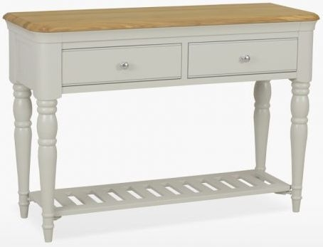 TCH Cromwell 2 Drawer Console Table - Oak and Painted