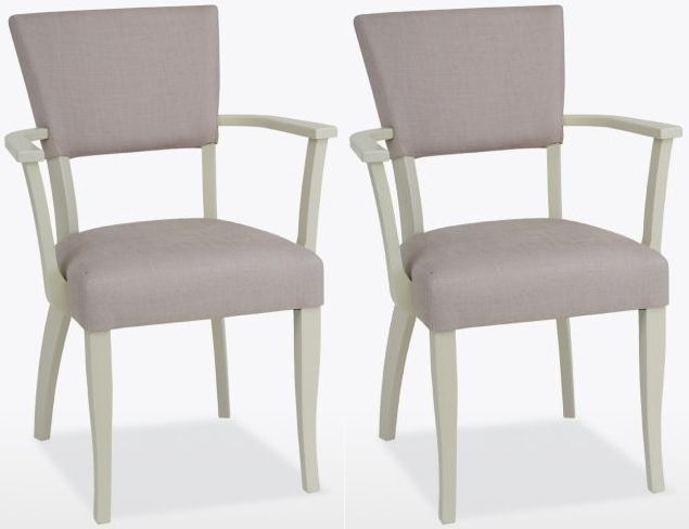 TCH Cromwell Catherine Carver Fabric Dining Chair (Pair)