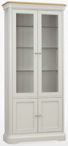 TCH Cromwell Glassed Bookcase - Oak and Painted