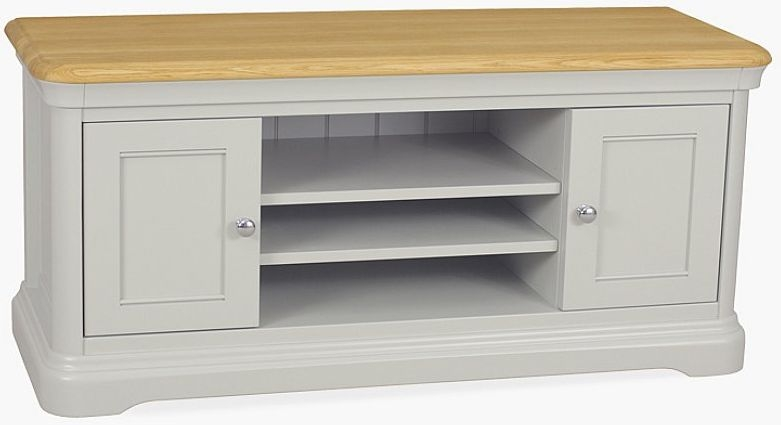 TCH Cromwell Large TV Unit - Oak and Painted
