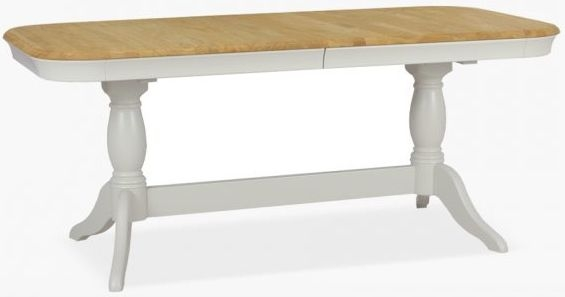 TCH Cromwell Oval Extending Double Pedestal Dining Table - Oak and Painted