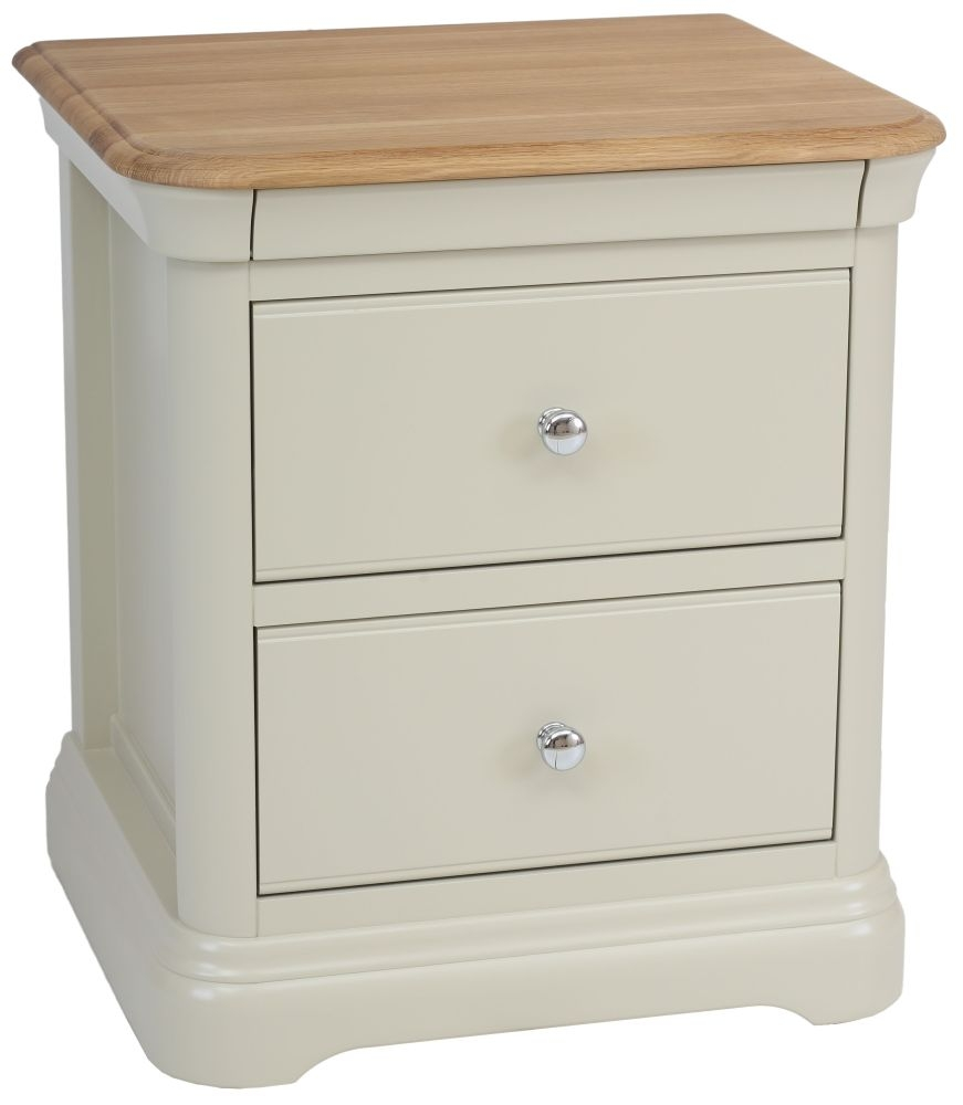 TCH Cromwell Painted 2 Drawer Bedside Cabinet
