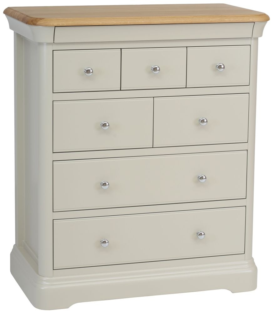 TCH Cromwell 7 Drawer Chest - Oak and Painted