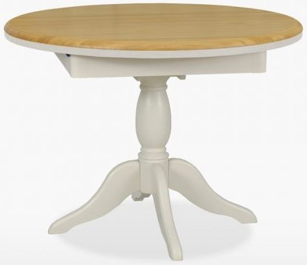 TCH Cromwell Round Extending Single Pedestal Dining Table - Oak and Painted