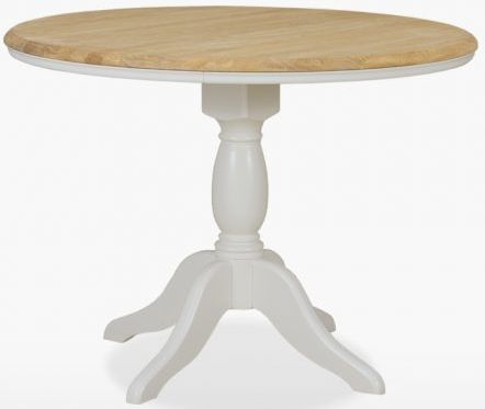 TCH Cromwell Round Single Pedestal Dining Table - Oak and Painted