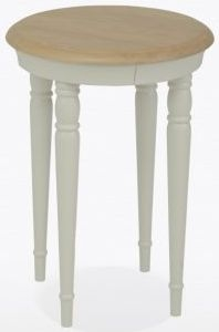 TCH Cromwell Small Round Coffee Table - Oak and Painted