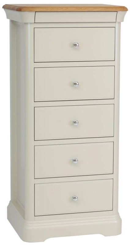 TCH Cromwell 5 Drawer Chest - Oak and Painted