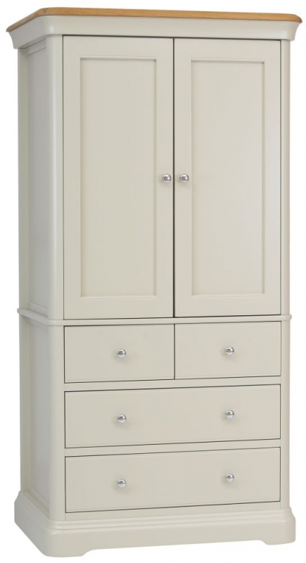 TCH Cromwell 2 Door 4 Drawer Linen Chest - Oak and Painted
