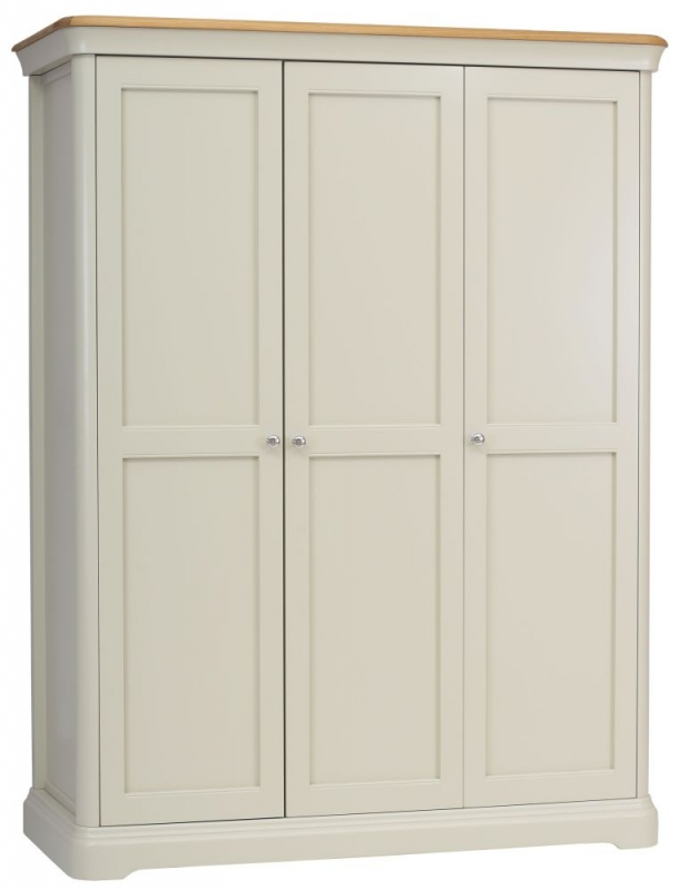 TCH Cromwell 3 Door Wardrobe - Oak and Painted