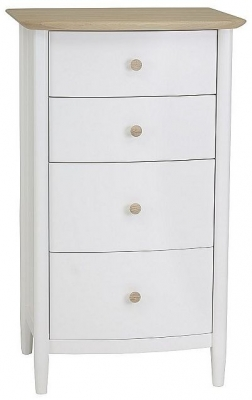 TCH Elise 4 Drawer Chest - Haze Oak and Ice White Painted