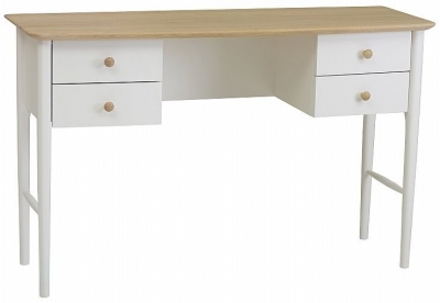 TCH Elise Dressing Table - Haze Oak and Ice White Painted