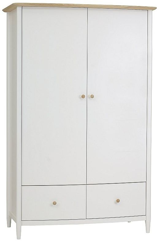 TCH Elise 2 Door 2 Drawer Wardrobe - Oak and Painted