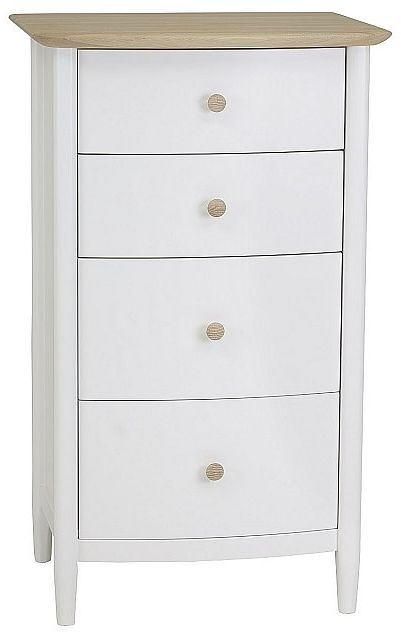 TCH Elise 4 Drawer Chest - Oak and Painted