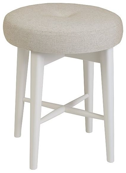 TCH Elise Painted Dressing Stool with Fabric Seat