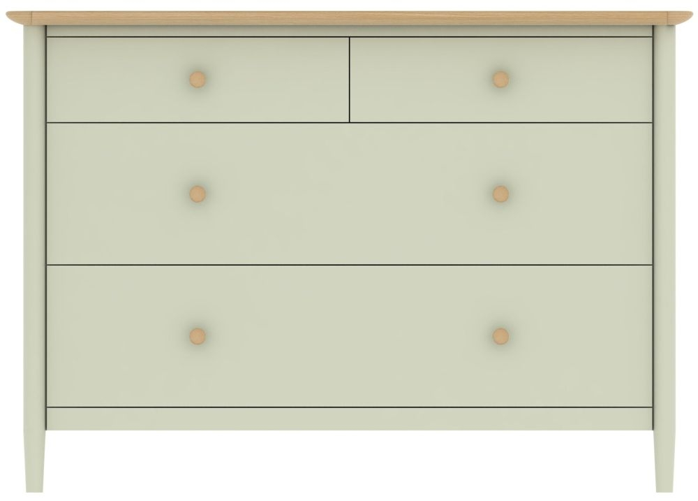 TCH Elise 2+2 Drawer Chest - Oak and Painted