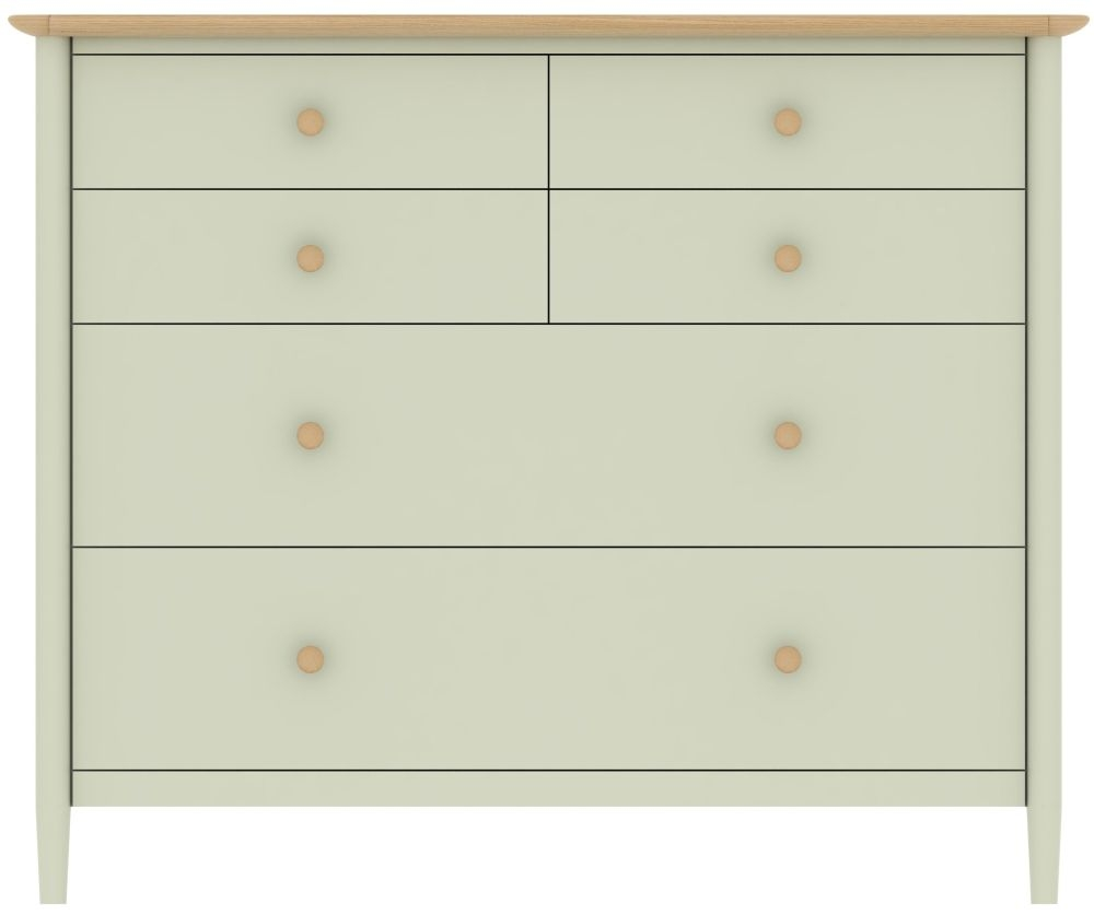 TCH Elise Painted Chest of Drawer - 2+4 Drawer