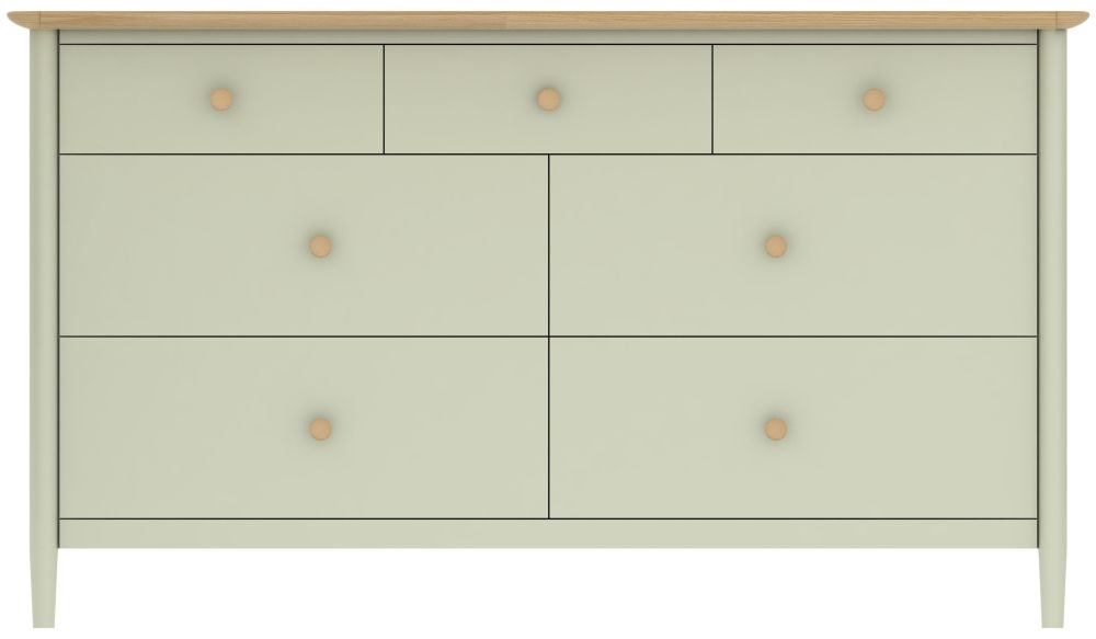 TCH Elise 4+3 Drawer Chest - Oak and Painted