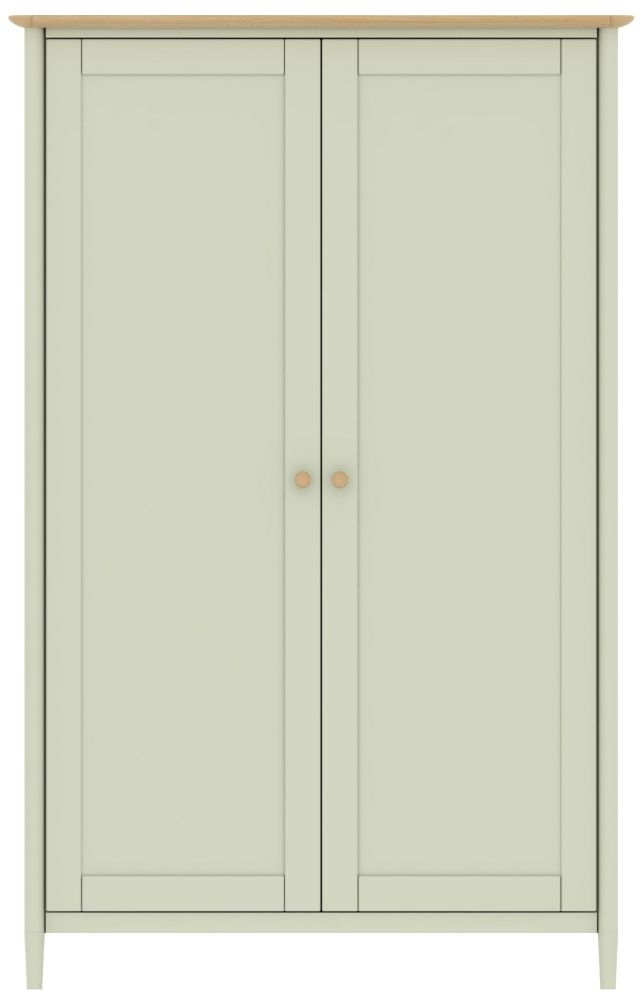 TCH Elise 2 Door Wardrobe - Oak and Painted