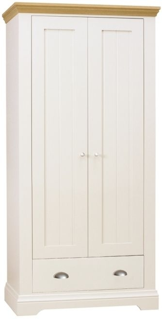 TCH Emily Cream Painted 2 Door 1 Drawer Double Wardrobe