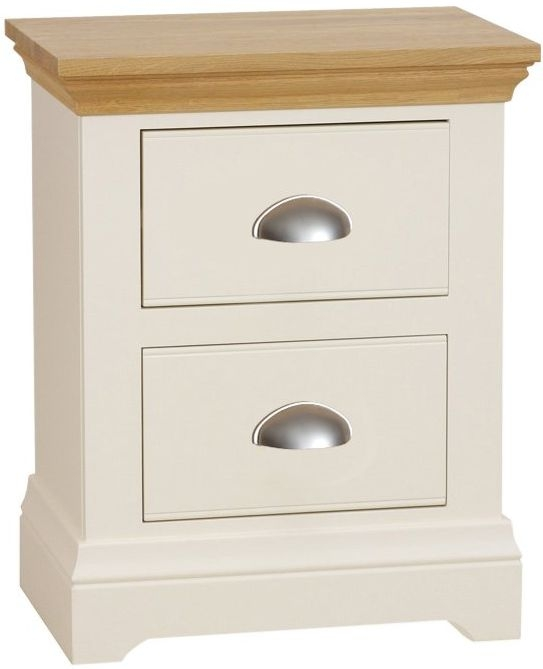 TCH Emily Cream Painted 2 Drawer Bedside Cabinet
