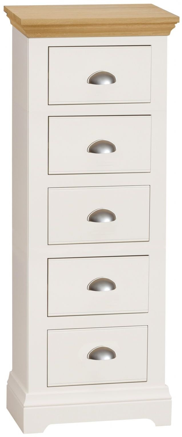 TCH Emily Cream Painted 5 Drawer Chest