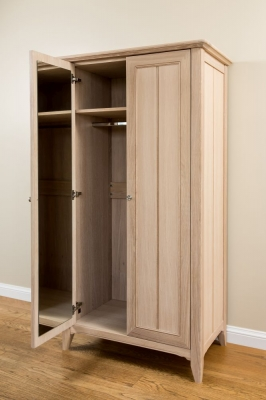 TCH New England Oak 2 Door Wardrobe