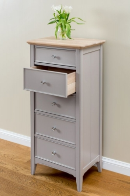 TCH New England Oak 5 Drawer Chest