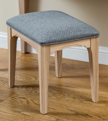 TCH New England Oak Fabric Seat Bedroom Stool
