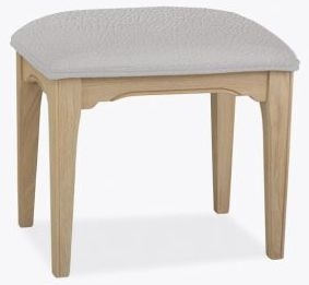 TCH New England Oak Leather Seat Bedroom Stool