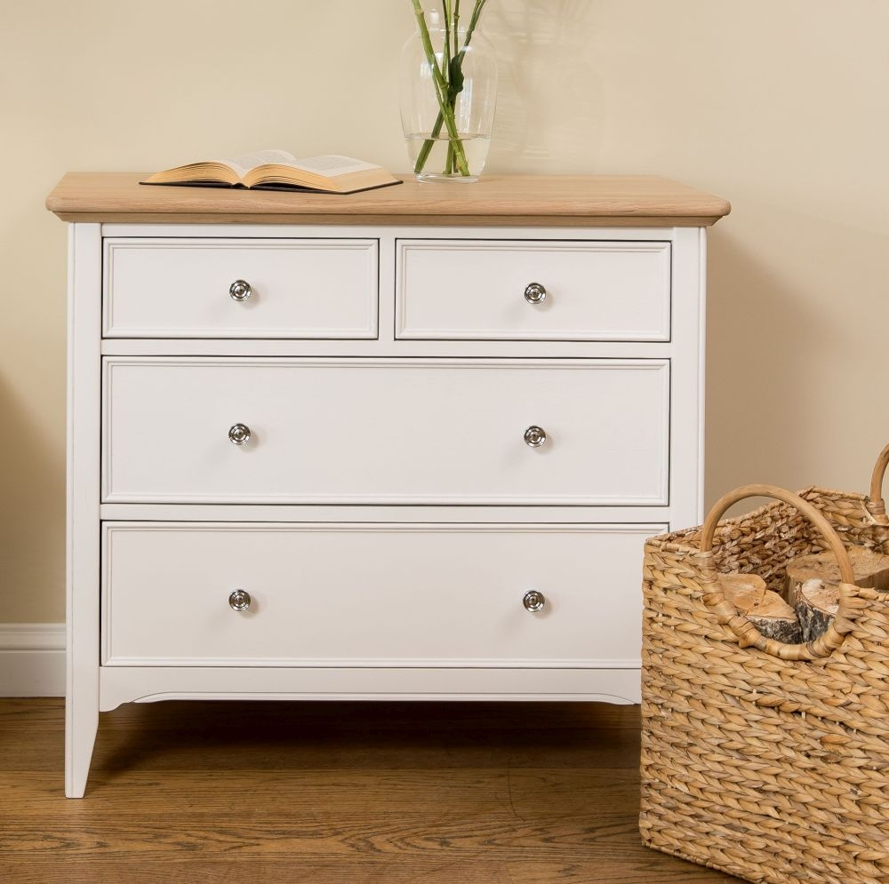 TCH New England Oak 2+2 Drawer Chest