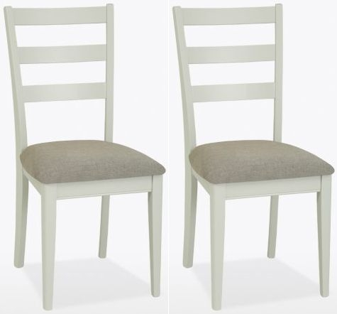 TCH Newark Painted Jersey Dining Chair With Fabric Seat Pair