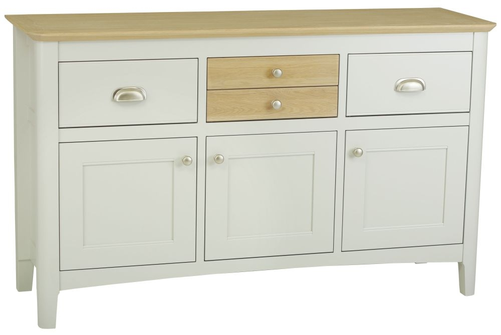 TCH Newark Painted Sideboard with 2 Oak Drawer
