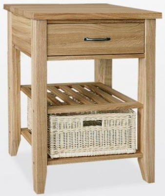 TCH Windsor Oak Console Table with 1 Basket