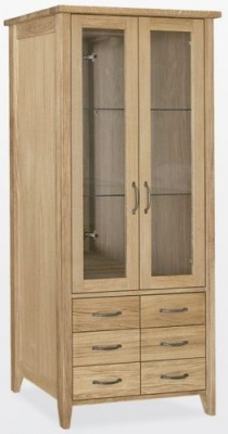 TCH Windsor Oak Bookcase with Lighting