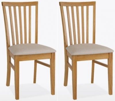 TCH Windsor Oak Olivia Fabric Seat Dining Chair (Pair)