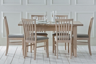 TCH Windsor Oak 1 Leaf Extending Dining Table